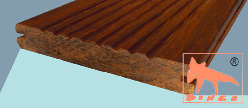 1850 x 137/155 x 20 mm - colour `Macassar` - grooved, ribbed side - oiled