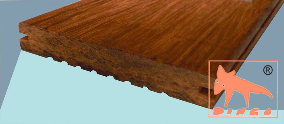 1850 x 137/155 x 20 mm - colour `Macassar` - grooved – plain side - unfinished