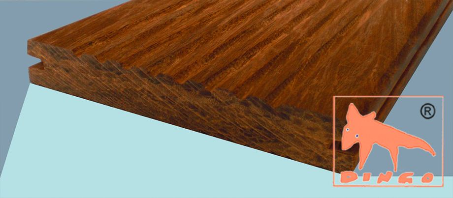 1850 x 137/155 x 20 mm - colour `Macassar` - grooved – ribbed side - unfinished